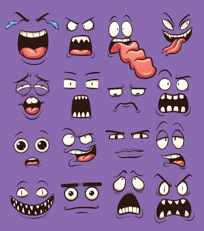 desperate: Funny cartoon faces. clip art illustration with simple gradients. each on a separate layer.