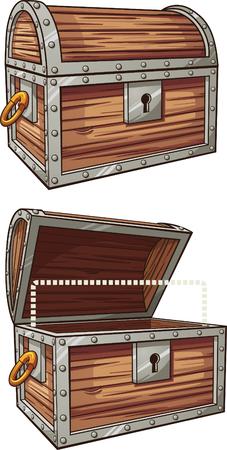 is closed: Cartoon treasure chest