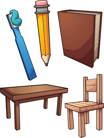 Household items. Vector clip art illustration with simple gradients. Each on a separate layer.