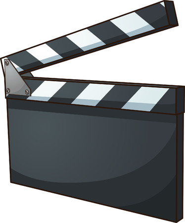 Blank cinema clapboard. Vector clip art illustration with simple gradients. All in a single layer.