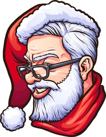 Hipster Santa Claus. Vector clip art illustration with simple gradients. All in a single layer.    イラスト・ベクター素材