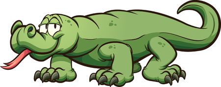 Komodo dragon. clip art illustration with simple gradients. All in a single layer.