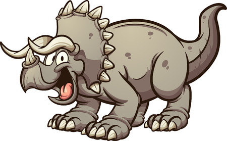 Cartoon triceratops dinosaur clip art.