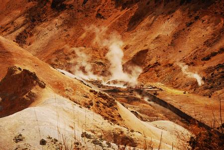 infierno: Aguas termales en Hell valle
