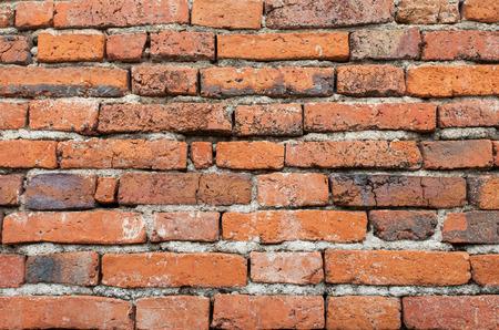 bulwark: old brick in Ayutthaya Thailand