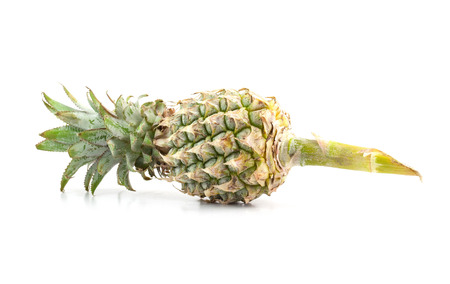 backgound: Fresh tasty pineapple isolated on white backgound