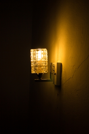 night club interior: Lamp lighting for Pathway