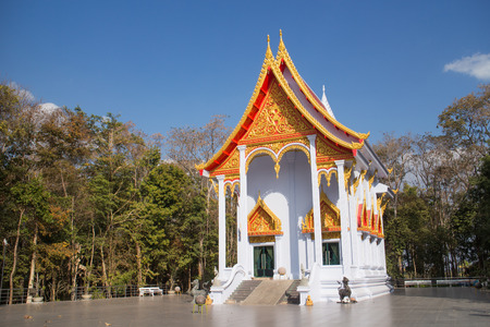 Temple at Mukdahan province thailand photo