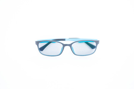 nearsighted: glasses isolated white background