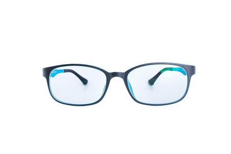 myopic: glasses isolated white background