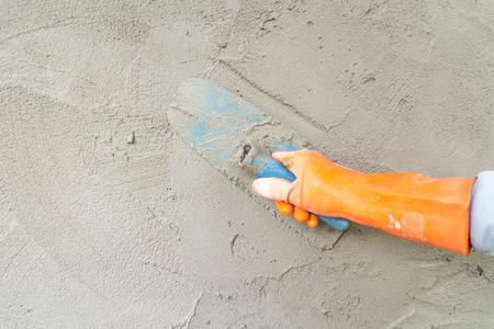 Verputzen Beton Standard-Bild - 48533301