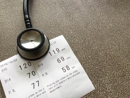 diastolic: Blood pressure , healthy care Stock Photo