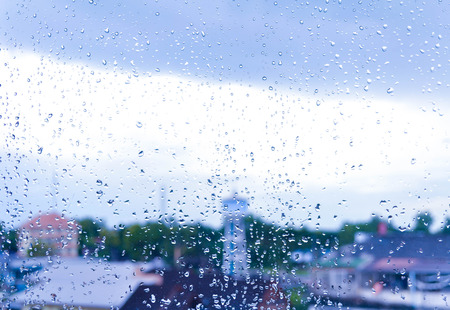 seson: Rainy drop on glass