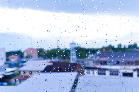 Rainy drop on glass