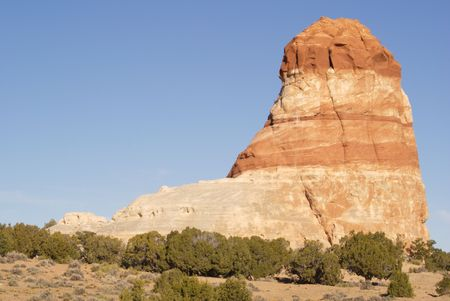 Boot shaped rock on Navajo Reservation Arizona