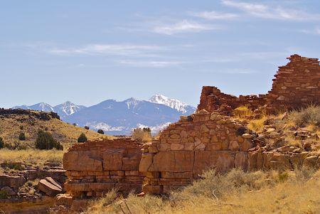Wupatki indian ruins near Flagstaff Arizona, Wupatki Ruins Stock Photo