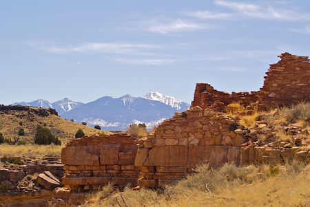 Wupatki indian ruins near Flagstaff Arizona, Wupatki Ruins Stock Photo