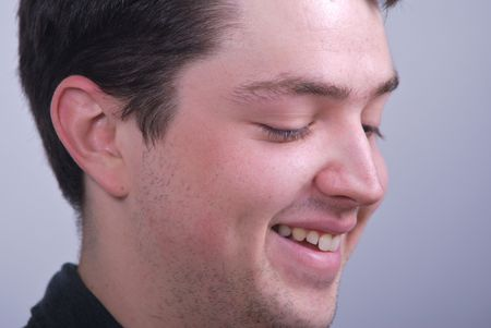 Smiling, happy young man Stock Photo