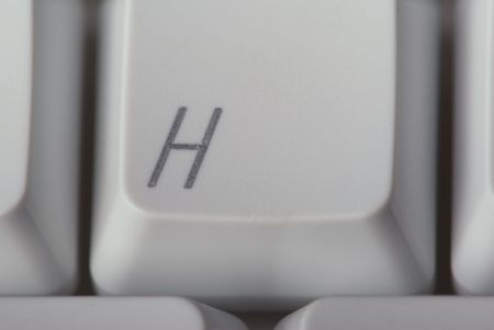 H Key on a computer keyboard Stock Photo