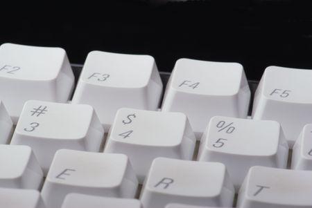 Several keys on a computer keyboard