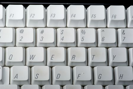 QWERTY keys on a computer keyboard