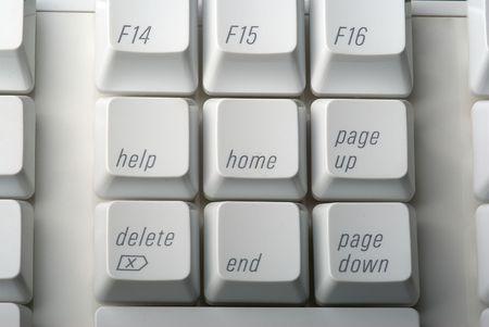Edit Keys on a computer keyboard Stock Photo