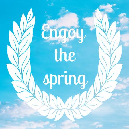 motivating: Motivating spring poster card illustration