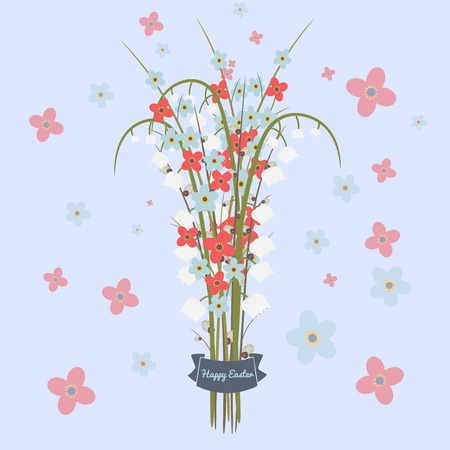 florish: Easterfloral vectorn illustration