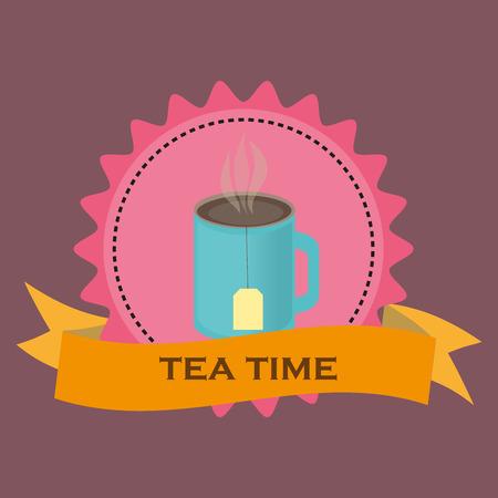motivating: Tea time motivating illustration