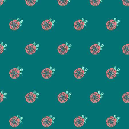 Hand drawn doodle vintage floral seamless pattern for scrapbooking, wallpapers and fabric Vector