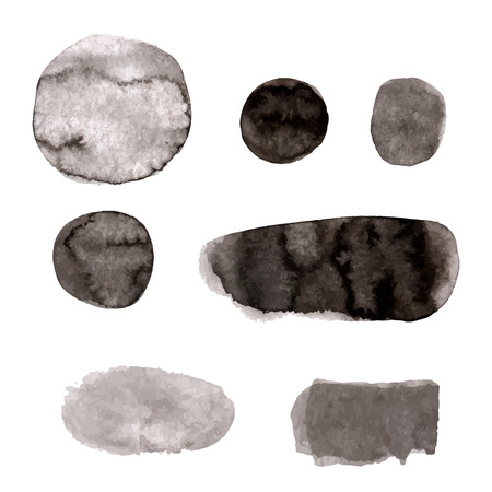 grizzle: Hand drawn watercolor vector texture, blobs and strokes