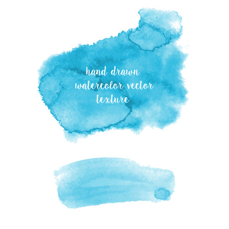 Set of hand drawn watercolor vector abstract textures Vectores