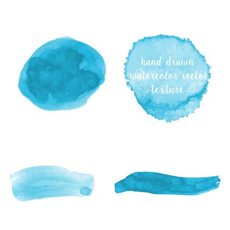 leaden splash: Set of hand drawn watercolor vector abstract textures Illustration