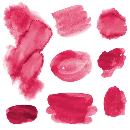 leaden: Set of hand drawn watercolor strokes and blobs