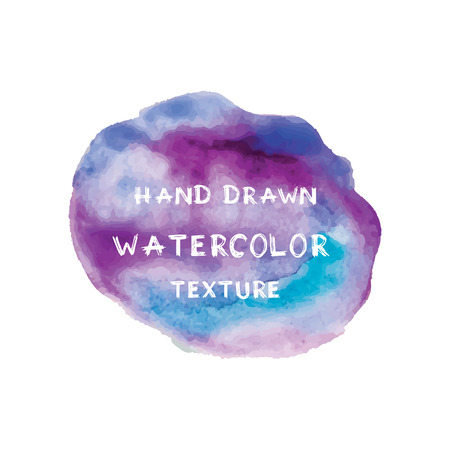 blotch: Hand drawn watercolor texture. Unique vector background.