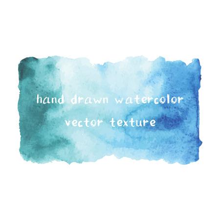 Abstract aquarel kunst de hand verf op een witte achtergrond. Aquarel vlekken. Unieke ombre aquarel textuur. Stock Illustratie