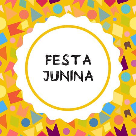 midsummer: Bright vector illustrationfor the Festa Junina Brazil Festival. Folklore holiday.  Festa Junina - June party.