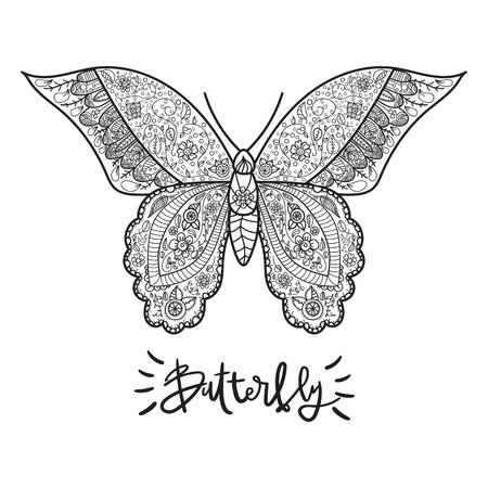 adults: Vector illustration for adults coloring books. Coloring page for adults.