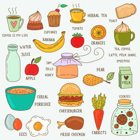 125,096 Lunch Food Stock Vector Illustration And Royalty Free ...
