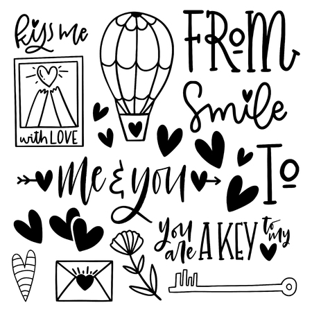 Cute Valentines day lettering composition. Lovely and simple design.