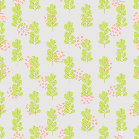 Vintage seamless pastel vector floral pattern. Hand drawn repeatable background for textile and wallpapers.