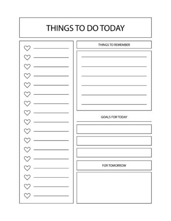 Daily and weekly planner. Simple feminine to do list. Ilustração