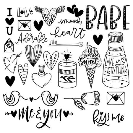 Cute Valentine's day lettering composition. Lovely and simple design.