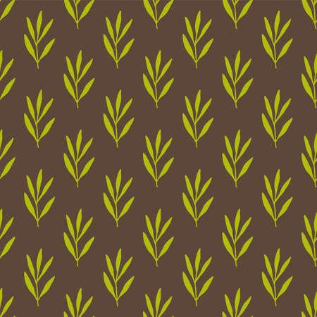 Vintage seamless pastel vector simple floral pattern.