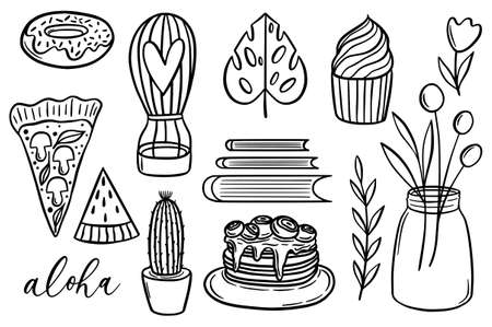 Cute simple vector hand drawn doodle illustration.