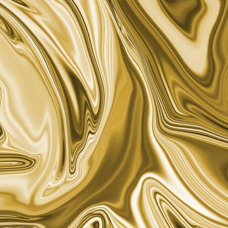 Gold Dense Liquid Surface Luxury Fabric Texture Graphic Background