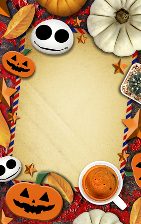 halloween day themed background with space for text, over light and high contrast Stock Photo