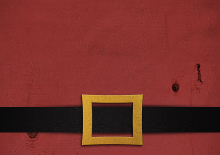 decorative belt santa cruz with over red wooden background, high contrast Stok Fotoğraf