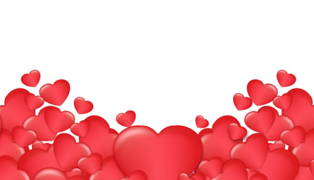 red heart , Valentines Day festival decor Imagens