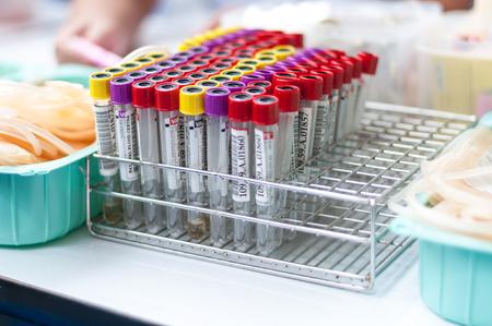 testtube: Equipment for blood donation
